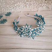 Диадемы ручной работы. Ярмарка Мастеров - ручная работа Двойной ободок с маленькими снежинками. Handmade.