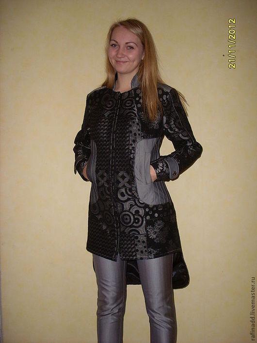 Верхняя одежда ручной работы. Ярмарка Мастеров - ручная работа. Купить Пальто женское демисезонное. Handmade. Серый, пальто на подкладе