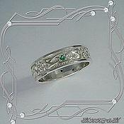 Украшения handmade. Livemaster - original item Wedding RING 925 silver, natural emeralds.. Handmade.