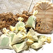 Для дома и интерьера handmade. Livemaster - original item Scented sachets, pouch of herbs, a linen scented pouches for home. Handmade.