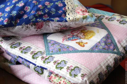 """Пледы и одеяла ручной работы. Ярмарка Мастеров - ручная работа. Купить """"На розовых облаках"""" комплект для новорожденного. Handmade. Розовый"""