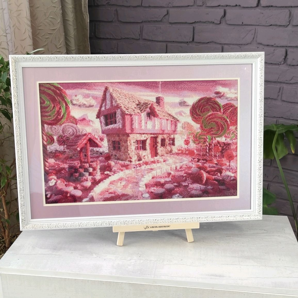Picture cross stitch Pink fancy, cross stitch, Pictures, Chelyabinsk,  Фото №1
