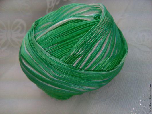Для украшений ручной работы. Ярмарка Мастеров - ручная работа. Купить №42 английский сад  Ленты Шибори Silk Ribbons Shibori. Handmade.