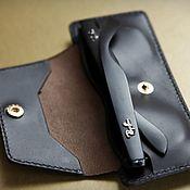 handmade. Livemaster - original item Black Gold Eyeglass Case