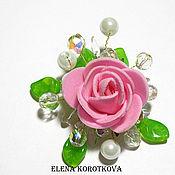 Украшения ручной работы. Ярмарка Мастеров - ручная работа Брошь розовая с цветком Роза подарок подарок девушке женщине. Handmade.