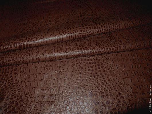 """Шитье ручной работы. Ярмарка Мастеров - ручная работа. Купить Натуральная кожа """"Крок Латте""""!. Handmade. Кожа, лоскуты кожи"""