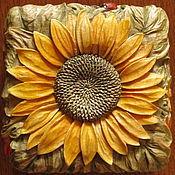 Для дома и интерьера ручной работы. Ярмарка Мастеров - ручная работа Подсолнух спелый - шкатулка резная деревянная. Handmade.