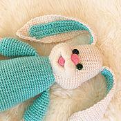Куклы и игрушки ручной работы. Ярмарка Мастеров - ручная работа Заяц вязаный Улыбака - вязаная игрушка зайка. Handmade.