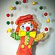 Коллекционные куклы ручной работы. Ярмарка Мастеров - ручная работа. Купить Клоун Милашка!!!. Handmade. Желтый, подарок девушке, грунт