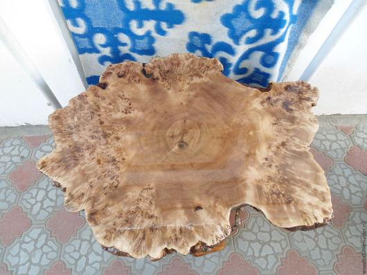 Деревянный стол полностью из массива горного тополя уникальный единственный экземпляр