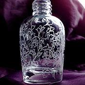 "Материалы для творчества ручной работы. Ярмарка Мастеров - ручная работа атомайзер 30мл ""Миди++"" ручная алмазная гравировка. флакон для парфюма. Handmade."
