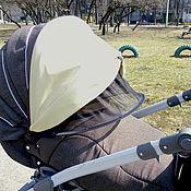 Работы для детей, ручной работы. Ярмарка Мастеров - ручная работа Распродажа Всепогодный козырек на коляску. Handmade.