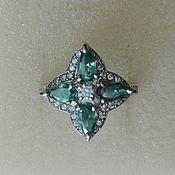 Украшения handmade. Livemaster - original item Ring 4 moissanite silver. Handmade.