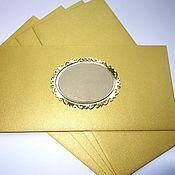 """Открытки ручной работы. Ярмарка Мастеров - ручная работа Конверт """"Золотой"""" - конверт из золотой бумаги. Handmade."""