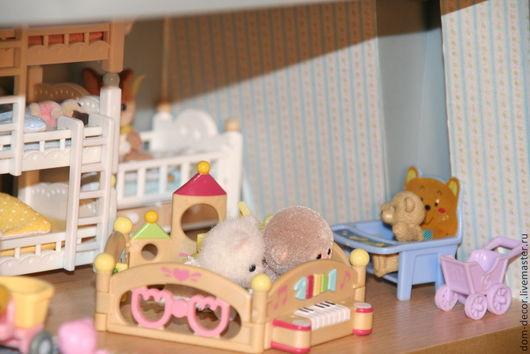 Куклы и игрушки ручной работы. Ярмарка Мастеров - ручная работа. Купить обои для кукольного домика. Handmade. Обои, коллекционирование, домик