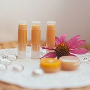 Косметика ручной работы handmade. Livemaster - original item Lip balm argan Echinacea Soft lips lip Care. Handmade.