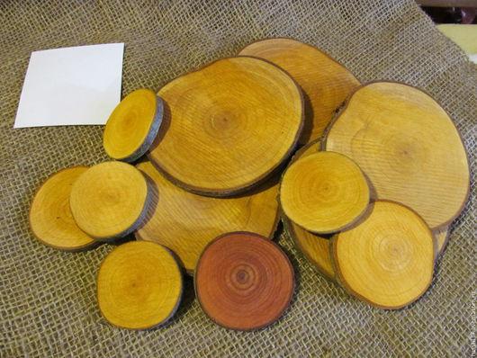 Другие виды рукоделия ручной работы. Ярмарка Мастеров - ручная работа. Купить Спилы ольхи. Handmade. Комбинированный, ольха