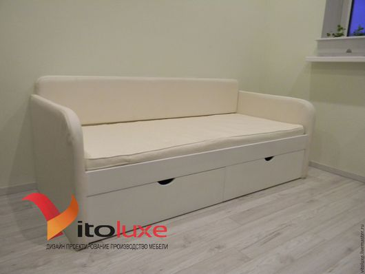 Детская ручной работы. Ярмарка Мастеров - ручная работа. Купить Детская кровать диван. Handmade. Белый, дизайн детской