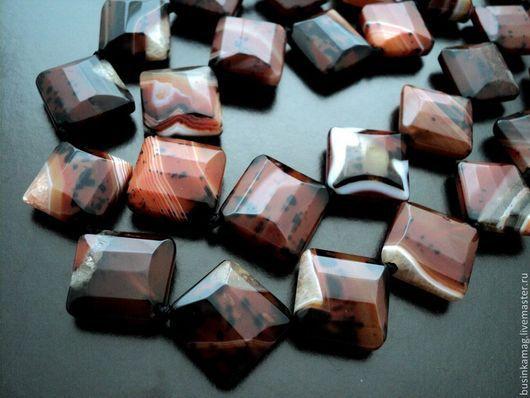 Для украшений ручной работы. Ярмарка Мастеров - ручная работа. Купить Агат крупные граненые камни, форма ромб. Handmade.