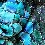 """Аксессуары ручной работы. Ярмарка Мастеров - ручная работа Батик шарф """"Водяная змея"""". Handmade."""