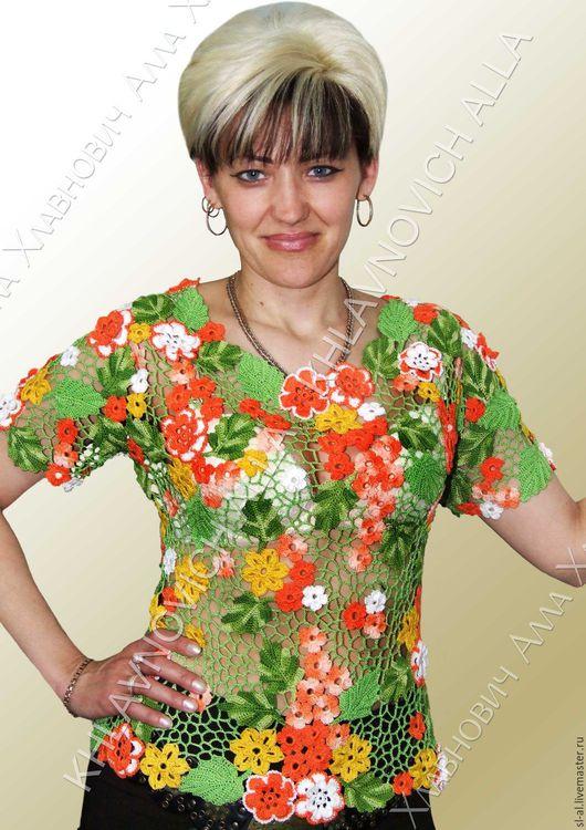"""Блузки ручной работы. Ярмарка Мастеров - ручная работа. Купить Блузка  """"Летний полдень"""" Модель №297. Handmade. Комбинированный"""