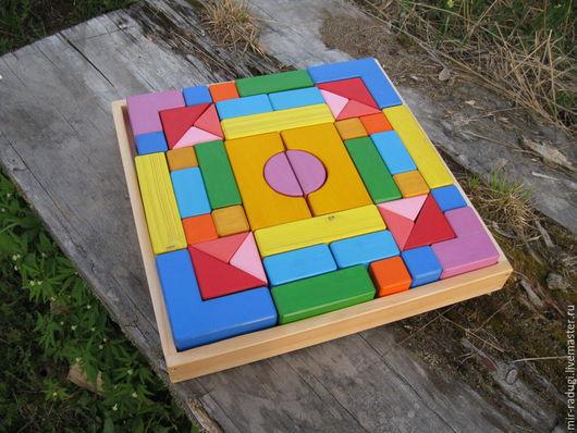 Развивающие игрушки ручной работы. Ярмарка Мастеров - ручная работа. Купить Детский деревянный конструктор Калейдоскоп. Handmade. Разноцветный