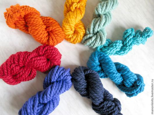 Вязание ручной работы. Ярмарка Мастеров - ручная работа. Купить Толстая пряжа ГУЛЛИВЕР Пряжа ручного прядения разноцветная. Handmade.