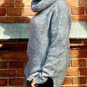 """Одежда ручной работы. Ярмарка Мастеров - ручная работа Туника джемпер свитер оверсайз из мохера """"Тёплый"""". Handmade."""