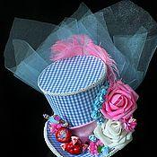 """Шапки ручной работы. Ярмарка Мастеров - ручная работа Шляпка в викторианском стиле на заколках """" Алиса"""". Handmade."""