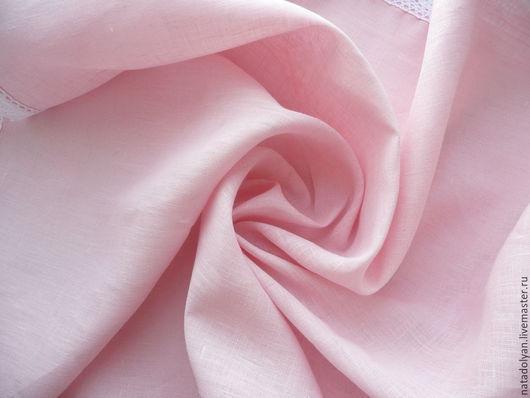 """Шитье ручной работы. Ярмарка Мастеров - ручная работа. Купить ЛЕН 100% """"Нежный розовый"""" шириной 220 см. Handmade."""