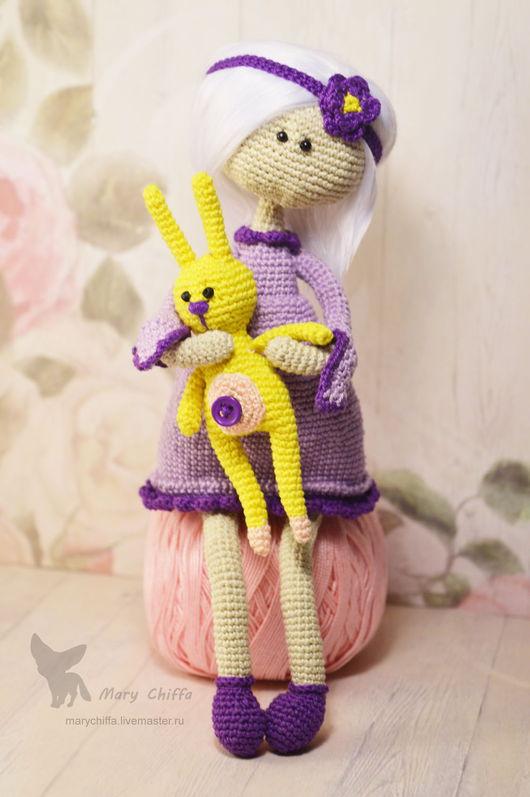Человечки ручной работы. Ярмарка Мастеров - ручная работа. Купить Куколка и Заенька. Handmade. Фиолетовый, куколка, подарок