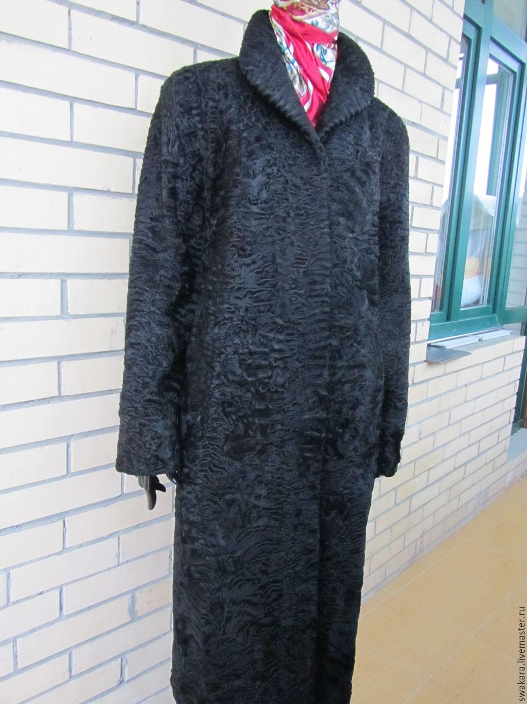 Классическая шуба пальто из каракуля СВАКАРА, Верхняя одежда, Москва, Фото №1