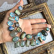 Украшения handmade. Livemaster - original item Necklace with Labradorite and blue Topaz. Handmade.