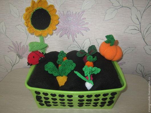 Развивающие игрушки ручной работы. Ярмарка Мастеров - ручная работа. Купить Овощная грядка. Handmade. Разноцветный, интересный подарок