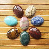 Материалы для творчества ручной работы. Ярмарка Мастеров - ручная работа Кабошоны 25х18 мм натуральных камней. Handmade.
