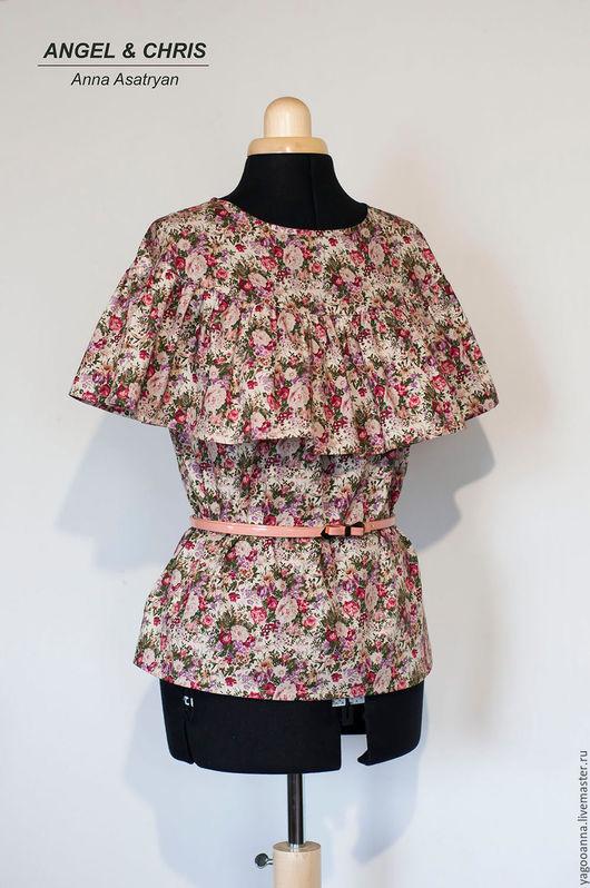 Блузки ручной работы. Ярмарка Мастеров - ручная работа. Купить Блуза Цветущий сад Айвори. Handmade. Кремовый, блузка для девушки
