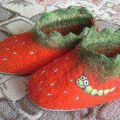 Обувь ручной работы. Ярмарка Мастеров - ручная работа Клубнички. Тапочки детские.. Handmade.