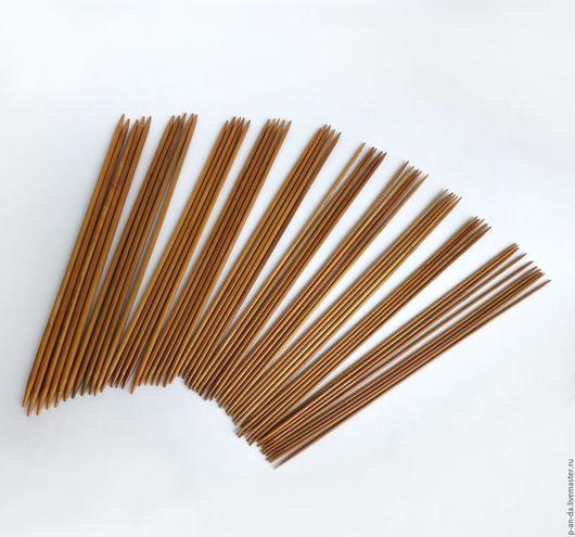 Вязание ручной работы. Ярмарка Мастеров - ручная работа. Купить 25 см Набор чулочных спиц 2 - 5 мм 55 шт. Handmade.