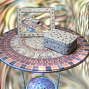 Для дома и интерьера handmade. Livemaster - original item The mosaic coffee table from