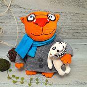 Куклы и игрушки handmade. Livemaster - original item Your own person. Red cat Vasya Lozhkina, soft plush toy. Handmade.