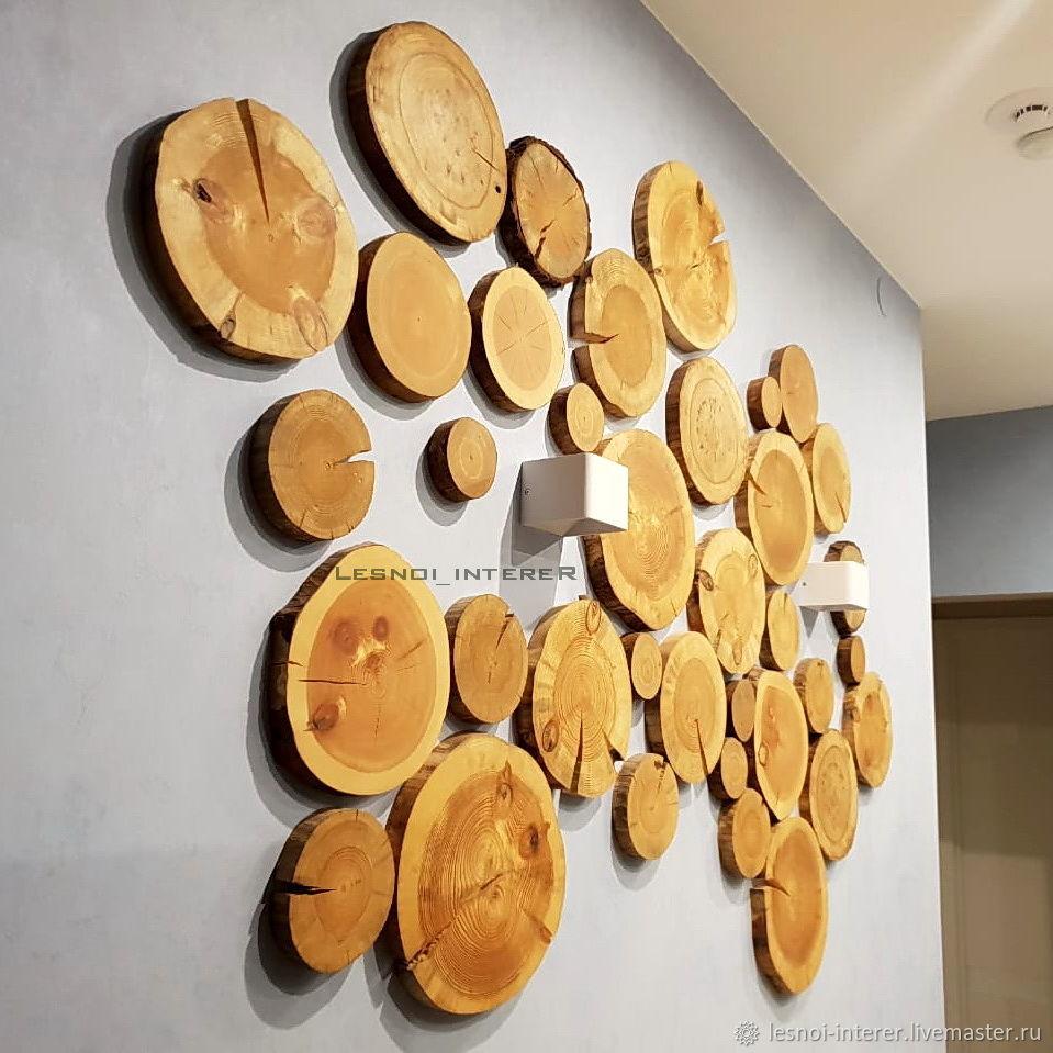 СПИЛЫ дерева для декора стен, Декоративные панели, Казань,  Фото №1