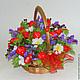Букет из конфет купить в Москве. Сладкий подарок в корзинке. Купить букет из конфет в корзинке. Букет в корзинке.