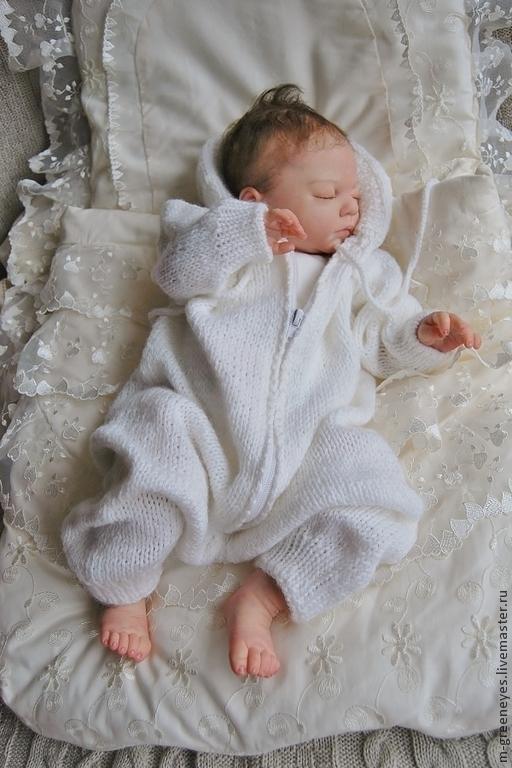 """Одежда ручной работы. Ярмарка Мастеров - ручная работа. Купить Комбинезон """"Маленький Ангел"""". Handmade. На выписку комбинезон"""