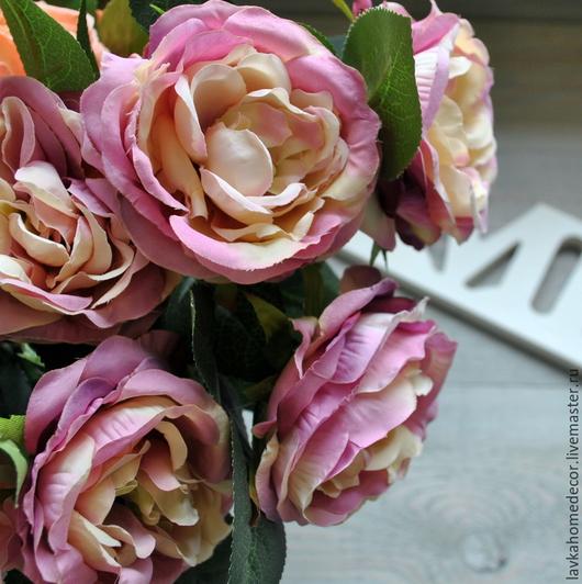 Роза чайная 30см, цвет лиловый, 1396