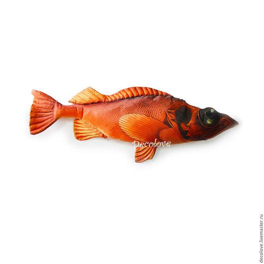 Подарки для мужчин, ручной работы. Ярмарка Мастеров - ручная работа. Купить Рыба Морской окунь в подарок мужчине на день рождения. Подарок рыбаку. Handmade.