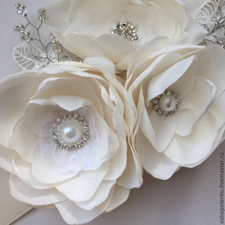 Свадебные украшения для платьев цветы