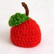 Работы для детей, ручной работы. Ярмарка Мастеров - ручная работа шапочка для фотосессии новорожденных яблоко красный фотосессия. Handmade.