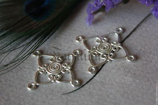 Для украшений ручной работы. Ярмарка Мастеров - ручная работа. Купить Коннекторы серебряные,3 варианта, Бали 13. Handmade.