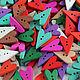 """Шитье ручной работы. Ярмарка Мастеров - ручная работа. Купить Пуговицы деревянные цветные """"Тильда - Сердечки"""". Handmade. Пуговицы"""