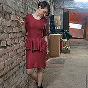 Вязаное платье Бордо